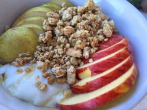Early Morning Apple Pear Greek Yogurt