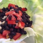 Fit Black Bean Lettuce Wrap
