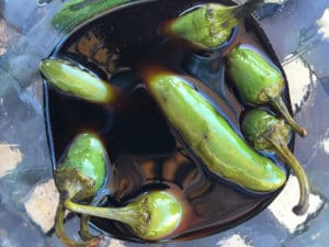 Lemon and Soy Marinated Serrano Peppers