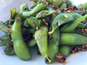 Spicy Garlic and Jalapeno Edamame