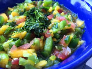 Spicy Mango and Greens Salsa