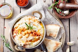 Spicy Garlic and Herb Hummus