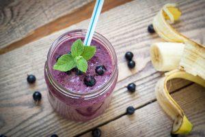 Banana Blueberry Protein Shake