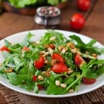 Pine Nut Salad with Pink Himalayan Salted Balsamic Vinaigrette