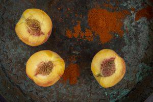 Sea Salt and Chili Seasoned Peaches
