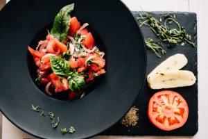 Tomato, Garlic, and Basil Salad