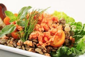 Lentil Romaine Salad
