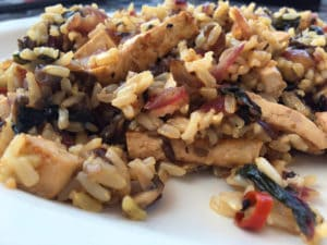 Swiss Chard Brown Rice Stir Fry