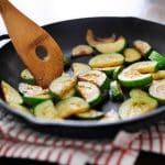 Freshly Seasoned Zucchini and Vegetable Broth