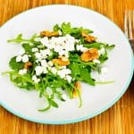 Arugula Feta Cheese Salad with Walnuts